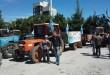 L'UNSIC di Venafro sfila con i suoi trattori contro l'inquinamento.