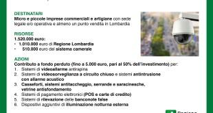 """Lombardia, riapre """"Impresa sicura"""", bando fino a 5mila euro"""