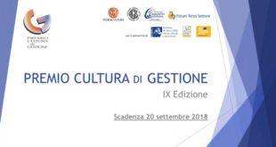 Premio Cultura di Gestione: ecco il bando per la IX edizione